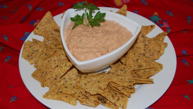 Roasted red pepper and garlic dip