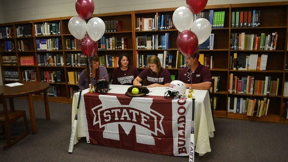 Franklin senior catcher Madison Cousineau has signed to play college softball for Mississippi State.