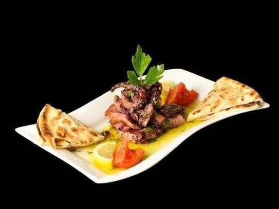 The grilled octopus appetizer at Zorba's Mediterranean
