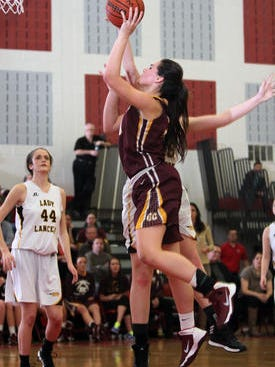 Gloucester Catholic's Mary Gedaka (shooting) and her team are set to host Donovan Catholic at 6 on Friday in a Non-Public A South game.