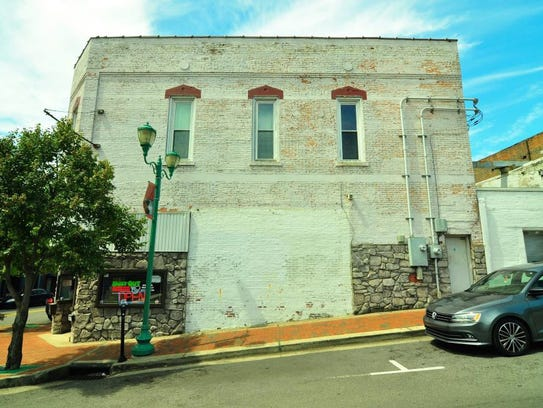 The proposed mural site on Second Street at the corner