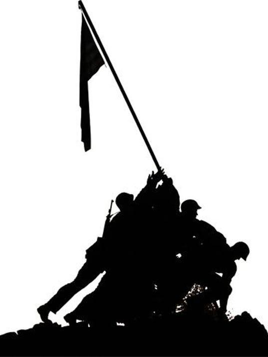 Iwo Jima Memorial cutout