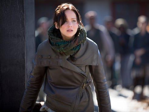 Jennifer Lawrence returns as heroine Katniss Everdeen in 'The Hunger Games: Catching Fire.'