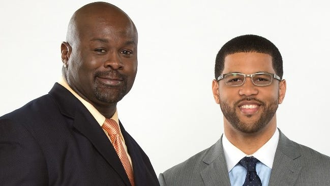 Hugh Douglas, left, and Michael Smith were co-hosts of 'Numbers Never Lie' before a disagreement between the two.