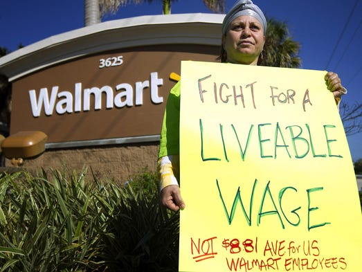 Nawal Elmilliax joins the protest against Wal-Mart