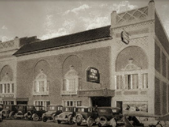 Lyric Theatre operated by the Hancocks in the early