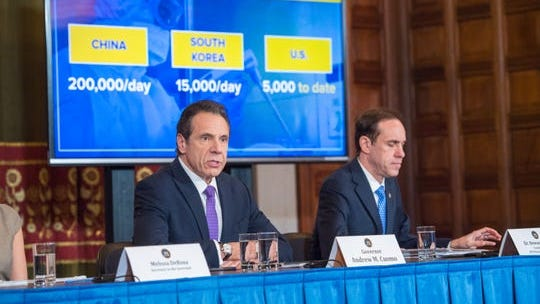 March 11, 2020- Albany, NY- Governor Andrew Cuomo holds a briefing on coronavirus.