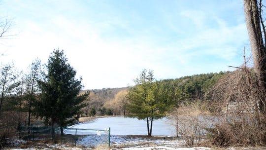 The Village of New Paltz reservoir on February 12, 2020.