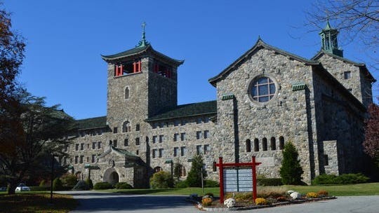 The Maryknoll Fathers and Brothers seminary building in Ossining, on Nov. 3, 2015. Its Asian-inspired architecture belies the order's missions in Southeast Asia.
