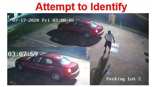 The Columbia Police Department is searching for two men who stole two propane tanks from a gas station on Trotwood Avenue.