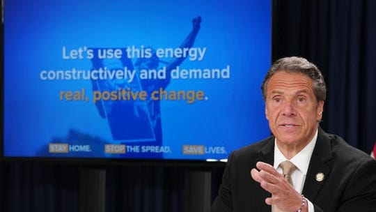 "Gov. Andrew Cuomo called for ""positive change"" out of the protests in New York during his daily coronavirus briefing on Monday, June 1."