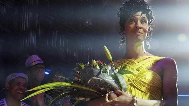 """Mj Rodriguez as Blanca in a scene from """"Pose."""" The program features the largest cast of transgender actors in series."""