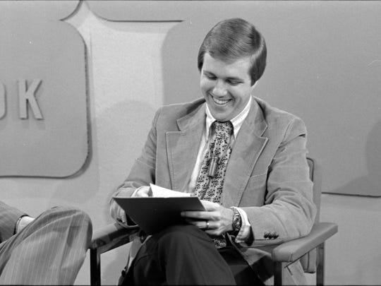 Al Rent smiles during the taping of WIPB-TV's Second Look program in 1977.