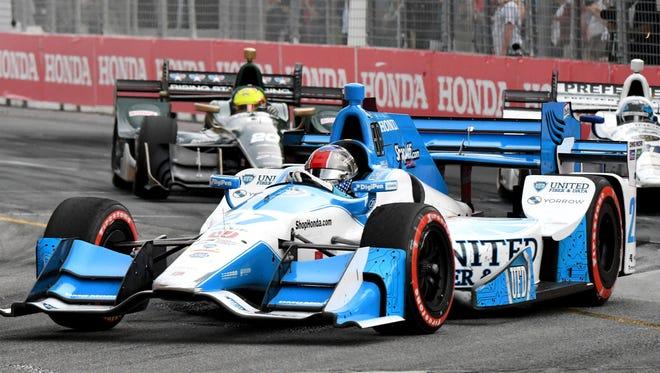 Jul 16, 2017; Toronto, Ontario, CAN;  Verizon IndyCar series driver Marco Andretti (27) during the Honda Indy Toronto at Streets of Toronto.
