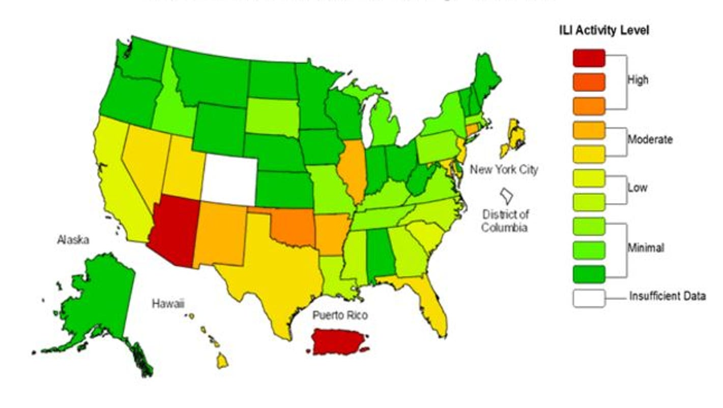 Read more on weekly flu report centers for disease control and - Arizona Fighting The Flu State Has Highest Rate Of The Illness In U S