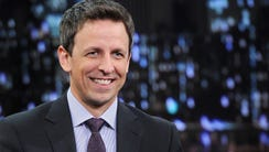 "NEW YORK, NY - JANUARY 28:  Seth Meyers visits ""Late"