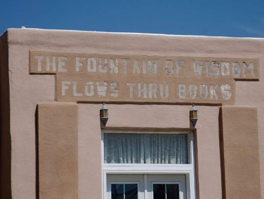"The book phase, ""The Fountain of Wisdom Flows Thru"