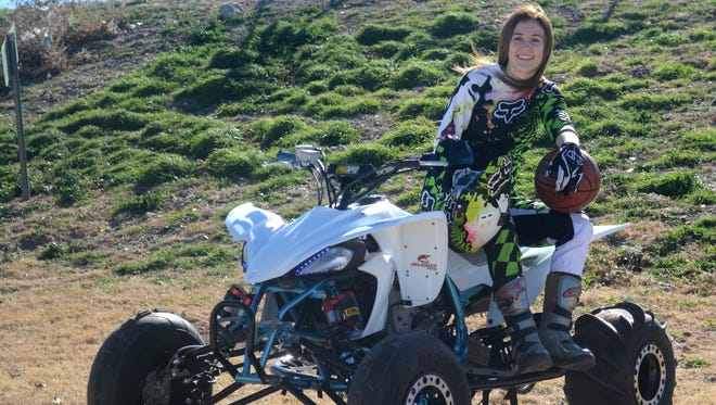 Cavegirls soccer and basketball player Lauryn Wade rides a four-wheeler in her spare time.