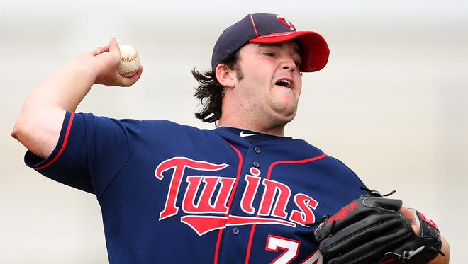 Bishop Verot graduate Hudson Boyd has been suspended by the Minnesota Twins indefinitely.  NEWS-PRESS FILE PHOTO KINFAY MOROTI/THE NEWS-PRESS...  Hudson Boyd pitches Saturday (3/31/12) during a Minnesota Twins minor league spring training game at the Lee County Sports Complex in Fort Myers.