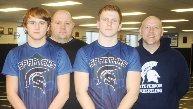Pictured from left are Connor Vaughan, Dan Vaughan, Brad Scott and Dave Scott.