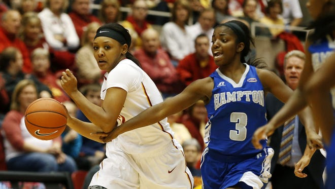 Iowa State guard Seanna Johnson could miss Saturday's game against No. 23 Oklahoma.