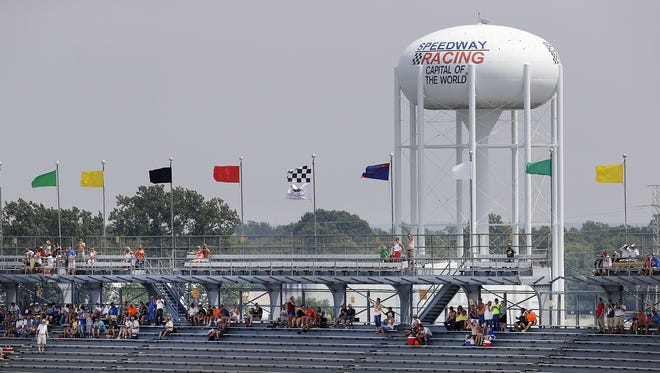 Very few fans in the South Vista at the start  the Brickyard 400 Sunday, July 24, 2016, afternoon at the Indianapolis Motor Speedway.