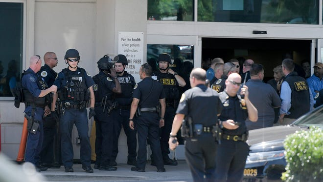 Shooting outside Vanderbilt's 100 Oaks campus on Wednesday, June 28, 2017.