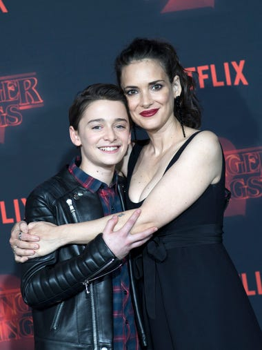 Mother-son love! Noah Schnapp and Winona Ryder play