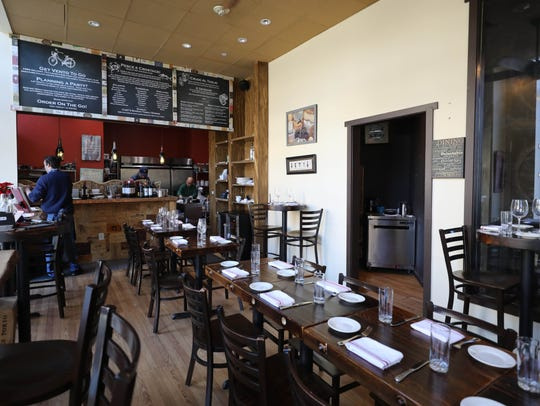 The interior of Vento Bistro on Huguenot Street in