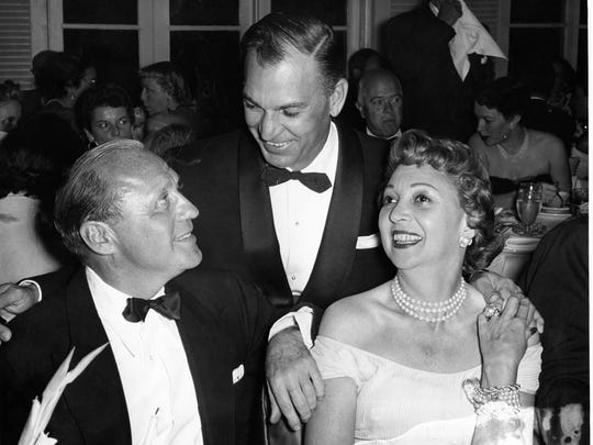 Jack Benny, Ben Hogan and Mary Livingstone.