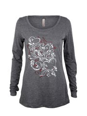Show fellow walkers your support for the American Heart Association by wearing the sparkly scoop-neck American Heart glitter filigree long-sleeve jersey ($25.95) made of a polyester-cotton-and-rayon blend.
