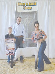 The champion lamb at the Caledonia FFA Blue and Gold Show was shown by Cheyenne Bowman.