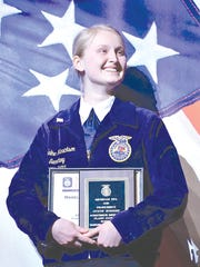 Madeline Henrickson of Hopkins received the proficiency award for Agriscience Research Plant Science.