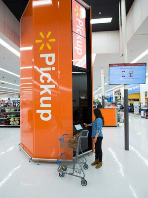 A Pickup Tower like this one has been added to the Walmart store in north Salisbury.