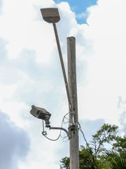 "New LED street lights went up around West Cervantes and ""M"" streets on Tuesday, June 12, 2018, after Nephateria Monique Williams, 28, and 8-month-old Neariaah Ikerria Williams were killed on June 6 when a driver hit them and the child's mother, Quineka Tyon Baldwin, 27, as they were crossing West Cervantes St. Through a joint partnership with the City of Pensacola, Escambia County, Gulf Power, and the Florida Department of Transportation, 72 streets lights will be installed or modified with LED bulbs along Mobile Highway/West Cervantes Street from Dominguez Street, which is just east of North New Warrington Road, to North ""A"" Street."