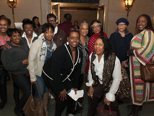 """Fans at the Freep Film Festival world premiere of director Jon Marc Sandifer's documentary, """"Being: Kem"""" at the Detroit Film Theatre on Friday, March 20, 2015."""