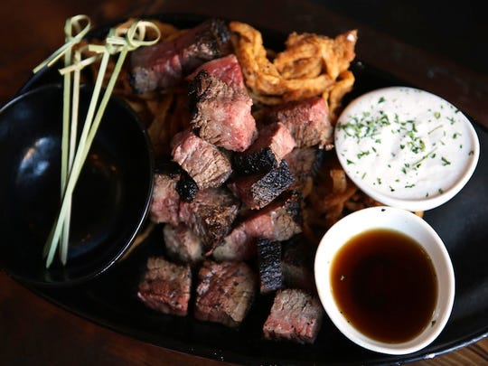 Taft's Ale House's Tri-Tip steak bites are served with