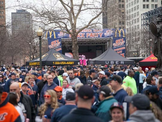 The Opening Day Block Party brought hundreds of Tigers