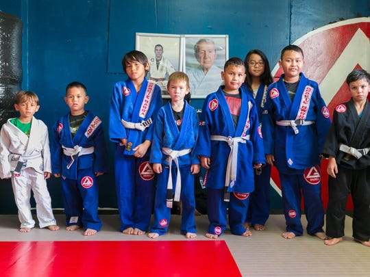 Young Jiu-Jitsu students  are photographed at Ultimate Martial Arts Gym in Barrigada on May 7.