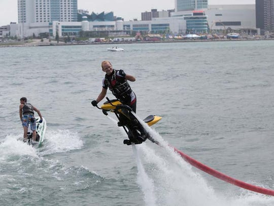 Jet-ski demos ran all weekend long at last year's GM River Days weekend festival.