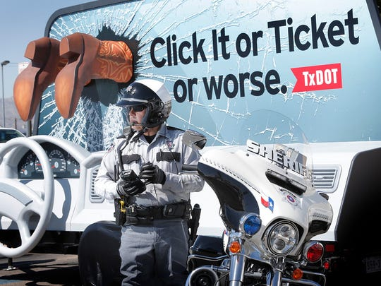 Texas law enforcement will step up its enforcement of the state's seat belt laws through June 3, including the Memorial Day weekend as part of the Click It or Ticket campaign.