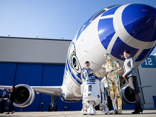 Company for R2-D2? ANA airline adds more 'Star Wars' Boeing jets