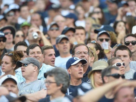 """""""Penn State fans react after falling behind 17-10 against Temple at Lincoln Financial Field on Saturday, September 05, 2015. Ryan Blackwell – Public Opinion"""""""