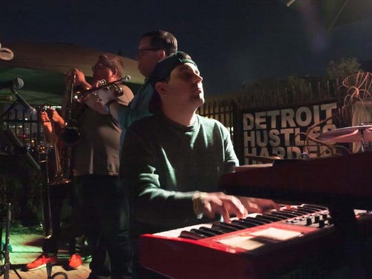 The Detroit-based experimental jazz band Will Sessions performs during the Detroit Hustles Harder Seven Year Anniversary celebration at TV Lounge in Detroit on Thursday, September 24, 2015.