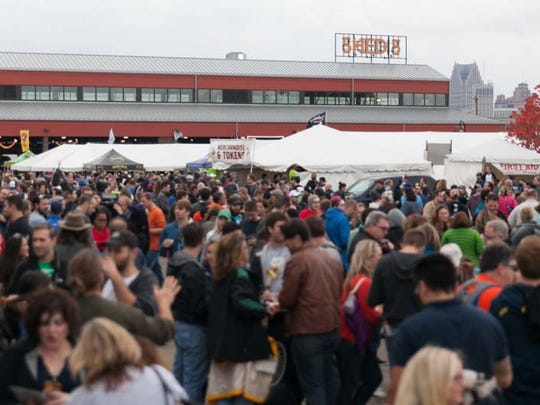 Eastern Market's Shed 5 and its adjacent grounds played host to the 6th annual Detroit Fall Beer Festival on Saturday, October 24, 2015.