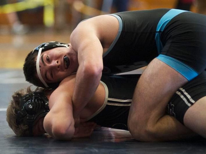 Enka's Chance Hannah was a third-place wrestler in Wednesday's U.S. Air Force Jet Invitational tournament at Enka.