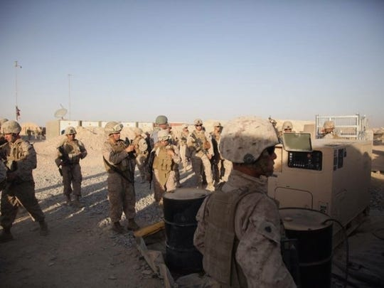 3/7 Marines of Headquarters & Service Company, communications section, in Afghanistan.
