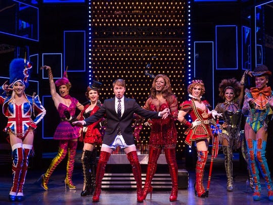 "The touring cast of ""Kinky Boots."""