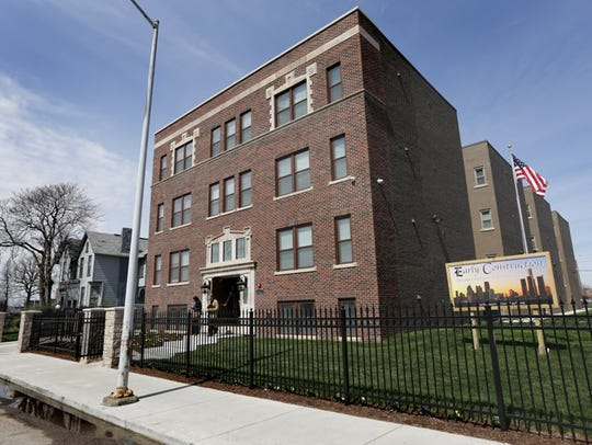 The recently rehabbed 27 studio apartments building