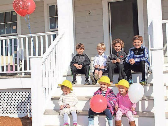 Some future homeowners at Whitehall's Founder's Day Celebration in October of last year.